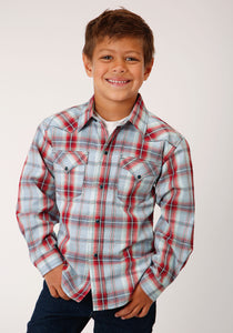 West Made Collection Westm Boys Long Sleeve 00080 Sandstone Plaid