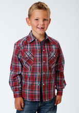 Performance Collection Westm Boys Long Sleeve Shirt 0997 Anthem Plaid