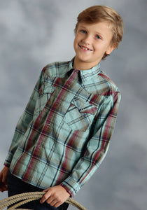 Performance Collection- Fall Ii Performan Boys Long Sleeve Shirt 0041 Marble Plaid