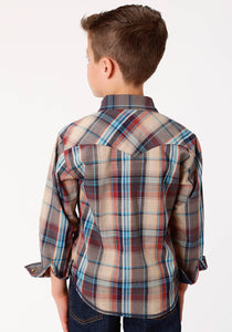 West Made Collection Westm Boys Long Sleeve 0738 Dusk Plaid