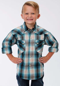 Performance Collection Westm Boys Long Sleeve Shirt 1236 Old Glory Plaid