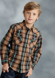 Performance Collection- Fall Ii Westm Boys Long Sleeve Shirt 0044 Timberline Plaid