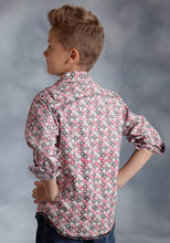 Performance Collection- Spring Ii Westm Boys Long Sleeve Shirt 0186 Hollow Diamond Print