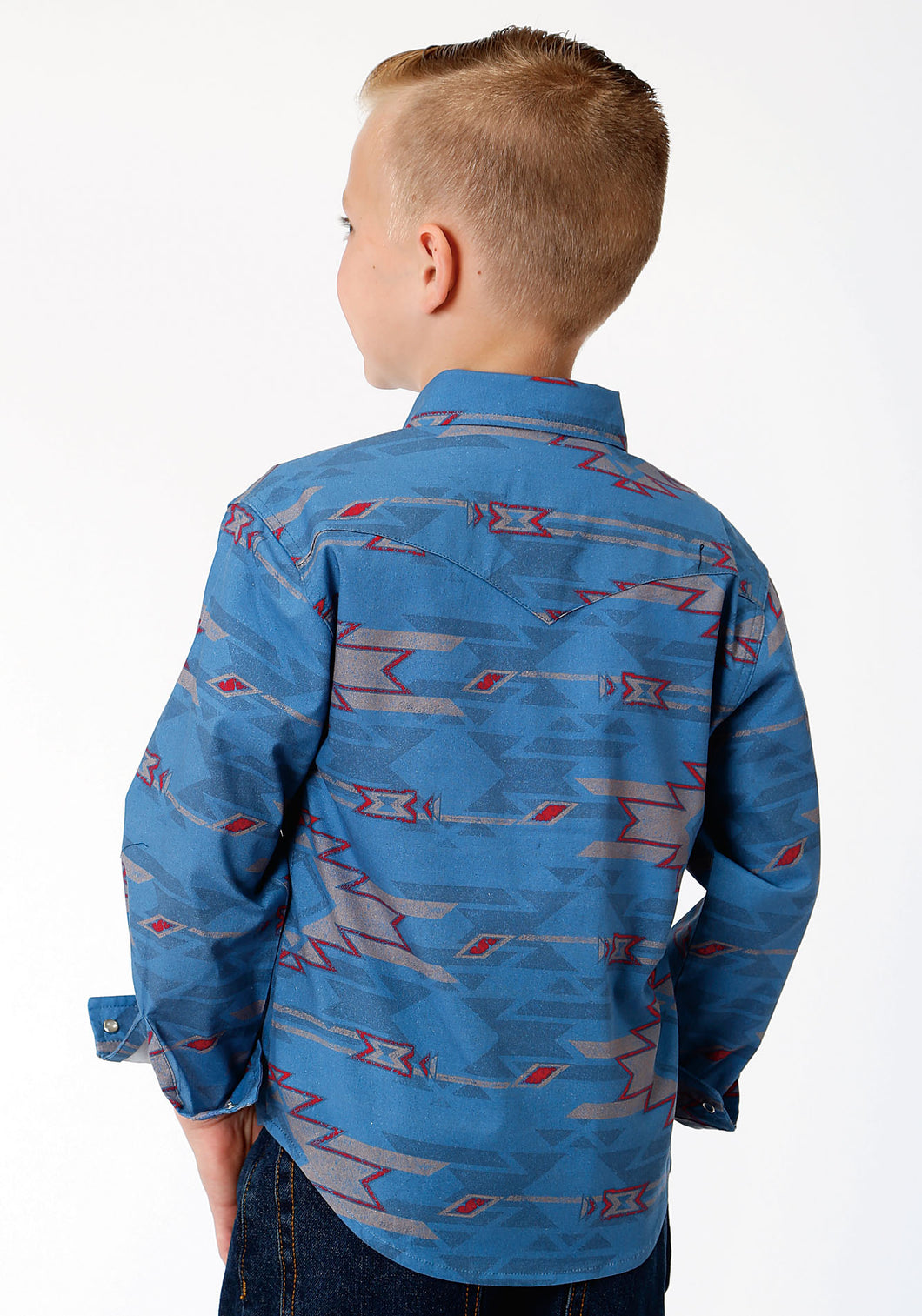 West Made Collection Westm Boys Long Sleeve 00077 Sandstorm Aztec