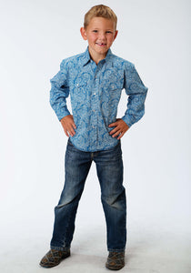 Performance Collection Westm Boys Long Sleeve Shirt 1006 Stitch Line Paisley