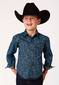 West Made Collection Westm Boys Long Sleeve 0785 Paisley Crackle