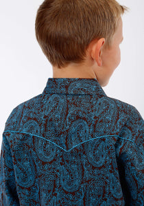 Performance Collection Westm Boys Long Sleeve Shirt 1239 Italian Paisley