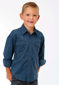 Performance Collection Westm Boys Long Sleeve Shirt 1242 Turn Style Print