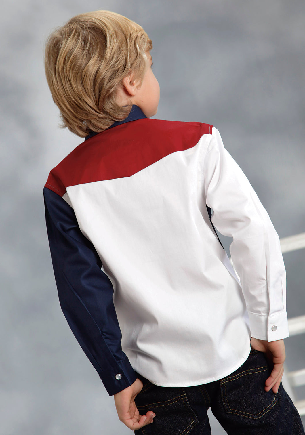 Boys Americana Collection Americana Boys Long Sleeve Shirt 9503 Americana Pieced Collection