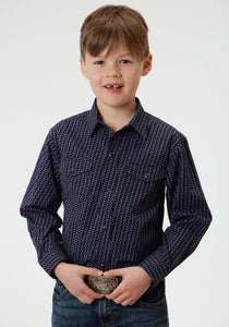 Boys Amarillo Collection- Purple Haze Amarillo Boys Long Sleeve Shirt 0561 Cruller Foulard