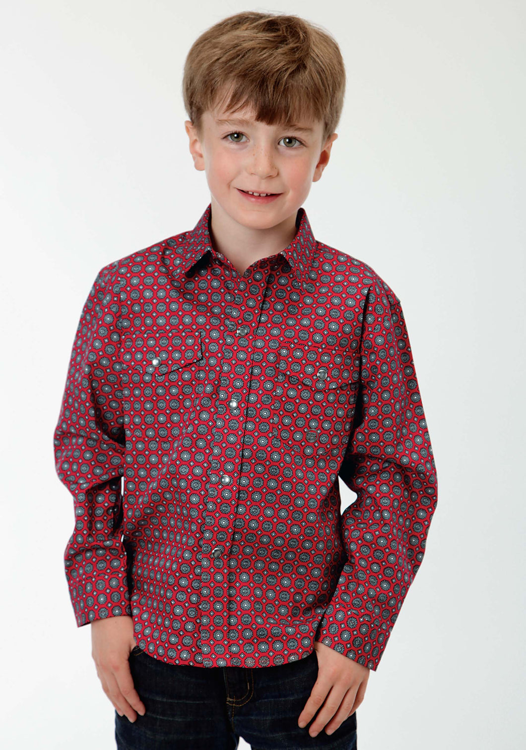 Boys Amarillo Collection- Crossfire Amarillo Boys Long Sleeve Shirt 0838 Diamond Stop