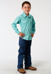 Boys Amarillo Collection- Deep Sea Amarillo Boys Long Sleeve 3327 Lattice Medallion