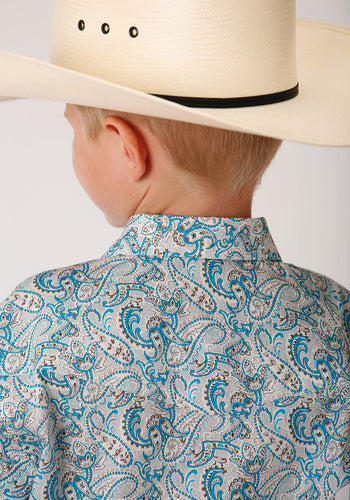 Boy's Amarillo Collection - Desert Sky Amarillo Boys Long Sleeve 00155 Turq Paisley
