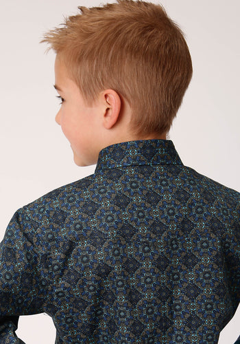 Boy's Amarillo Collection- Cool Pines Amarillo Boys Long Sleeve 00266 Pine Medallion