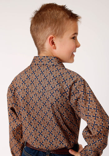 Boy's Amarillo Collection- Cedar Brook Amarillo Boys Long Sleeve 00268 Diamond Medallion