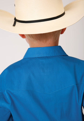 Boy's Amarillo Collection - Blue Ridge Amarillo Boys Long Sleeve 00227 Solid Poplin - Royal
