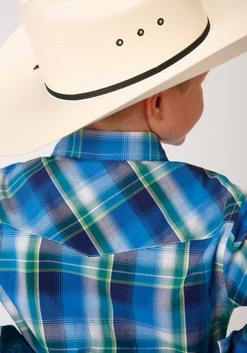 Boy's Amarillo Collection - Blue Ridge Amarillo Boys Long Sleeve 00157 Water Plaid
