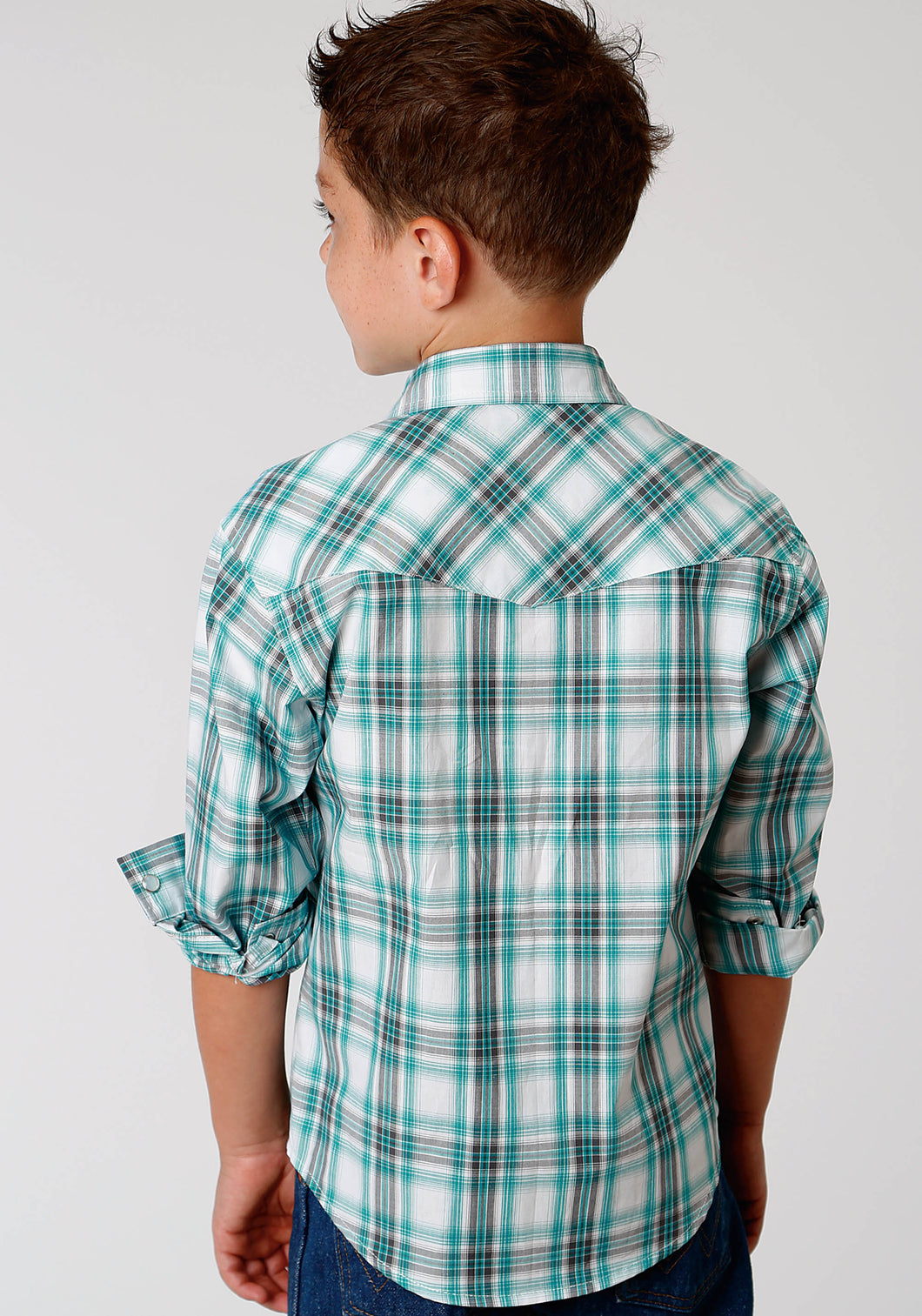Boys Amarillo Collection- Deep Sea Amarillo Boys Long Sleeve 3336 Sea Plaid