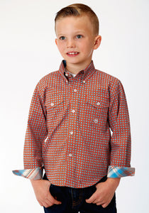 Boys Amarillo Collection- Oasis Amarillo Boys Long Sleeve 00028 Clay Foulard