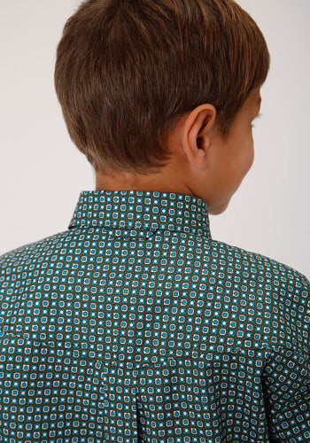 Boy's Amarillo Collection- Cool Pines Amarillo Boys Long Sleeve 00265 Block Geo