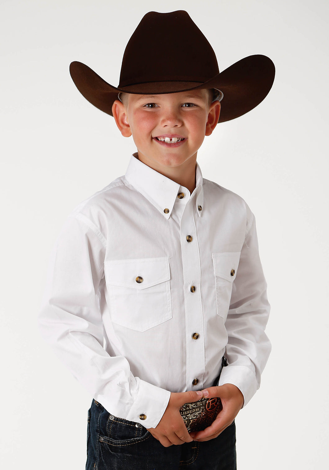 Solid Poplin Button Collection Basicsolid Boys Long Sleeve Shirt Solid Poplin Western Model Vergtd Butn