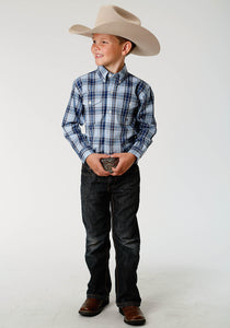 Boys Amarillo Collection- Indigo Trail Amarillo Boys Long Sleeve Shirt 1524 Vintage Plaid