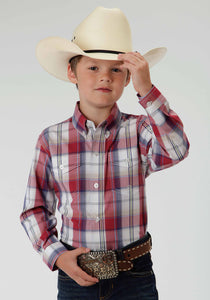 Boys Amarillo Collection- Summer Picnic Amarillo Boys Long Sleeve Shirt 0399 Marble Plaid