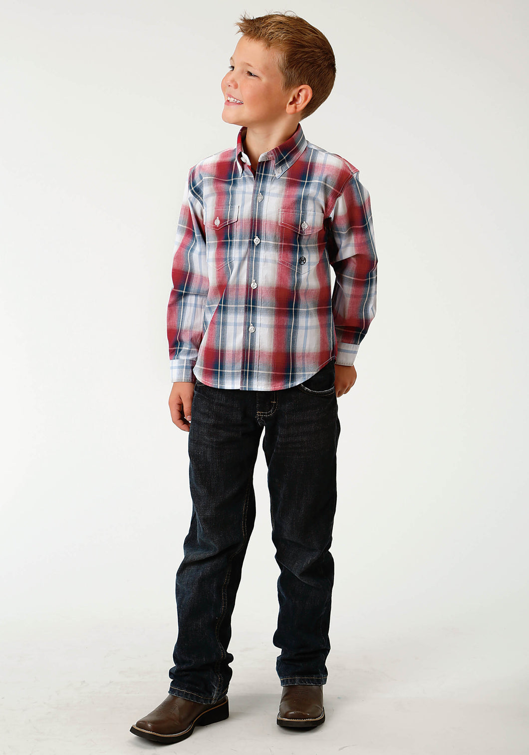 Boys Amarillo Collection- Route 66 Amarillo Boys Long Sleeve Shirt 1679 Independence Plaid