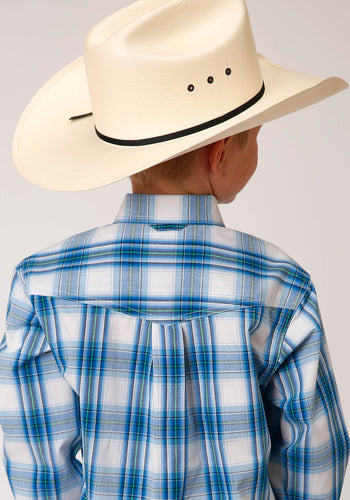 Boy's Amarillo Collection - Blue Ridge Amarillo Boys Long Sleeve 00158 Blue Brook Plaid