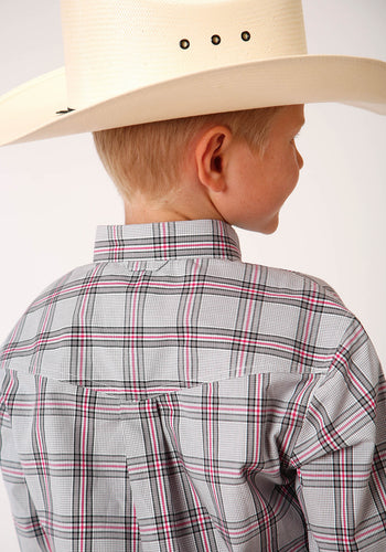 Boy's Amarillo Collection - Red Barn Amarillo Boys Long Sleeve 00159 Coal Creek Check