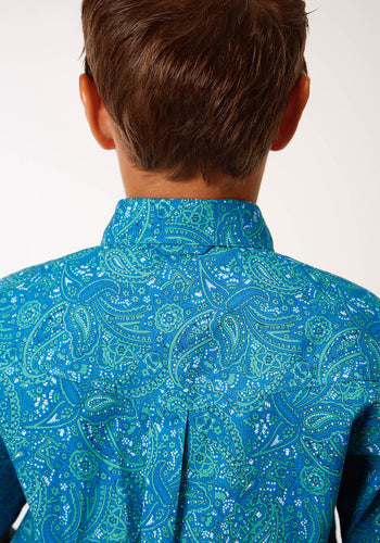 Boy's Amarillo Collection - Blue Ridge Amarillo Boys Short Sleeve 00152 Meadow Paisley