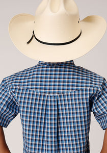 Boys Amarillo Collection- Heritage Amarillo Boys Short Sleeve 00021 Americana Check