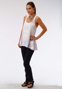 Studio West- Gypsy Paradise Swest Womens Sleeveless Shirt 1010 Poly Slub Jersey Tank