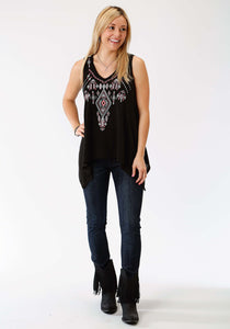 Studio West- Viva La Vida Swest Womens Sleeveless Shirt 1009 Sweater Jersey Tank Wembroidery
