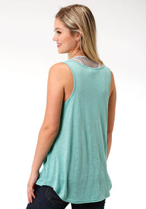Five Star Collection- Summer Iii 5star Womens Sleeveless 8172 Poly Rayon Racerback Tank