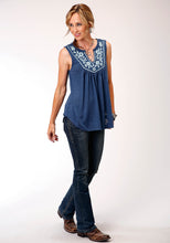 Studio West- Summer Solstice Swest Womens Sleeveless 00220 Poly Rayon Slub Jersey Slvls Top