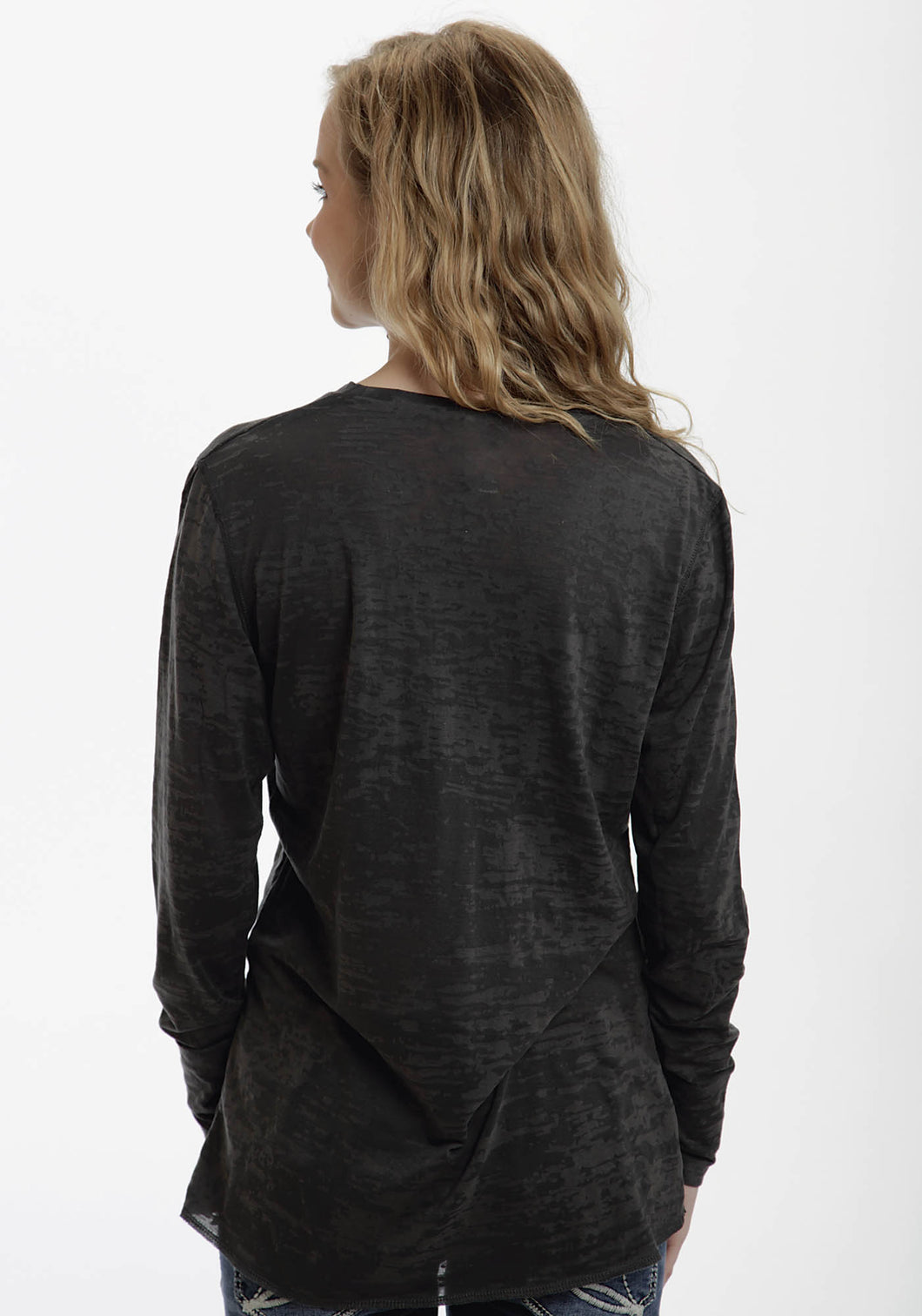 In Stock Womens Long Sleeve 82010 Burnout Ls Knit