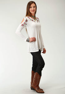 Studio West- Autumn Vineyard Swest Womens Long Sleeve 2044 Pr Slub Jersey Top