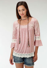 Studio West- Boho By Nature Swest Womens Long Sleeve Shirt 0893 Cp Heather Jersey Top