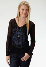 Five Star- Birds Of A Feather 5star Womens Long Sleeve Shirt 0572 Sheer Poly Slub Jersey Tee