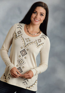 Studio West- Native Rituals Swest Ladies Long Sleeve Shirt 0020 Sweater Jersey Tunic