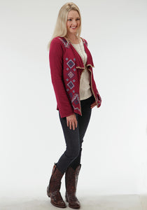 Studio West- Out Of The Blue Swest Womens Long Sleeve Shirt 0588 Solid Sweater Jersey Cardigan