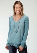 Studio West- Native Dancer Swest Womens Long Sleeve Shirt 0566 Garment Dyed Slub Jersey Top