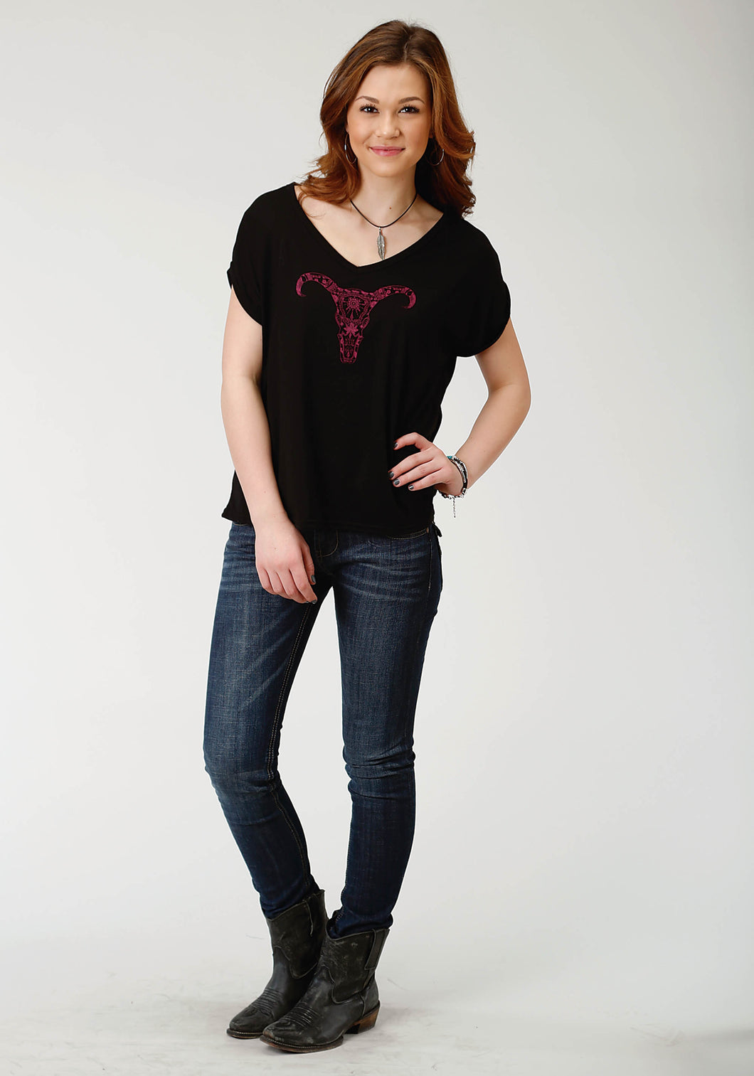 Five Star Collection- Winter Ii 5star Womens Short Sleeve 2259 Pr Jersey Tee Wv Neck