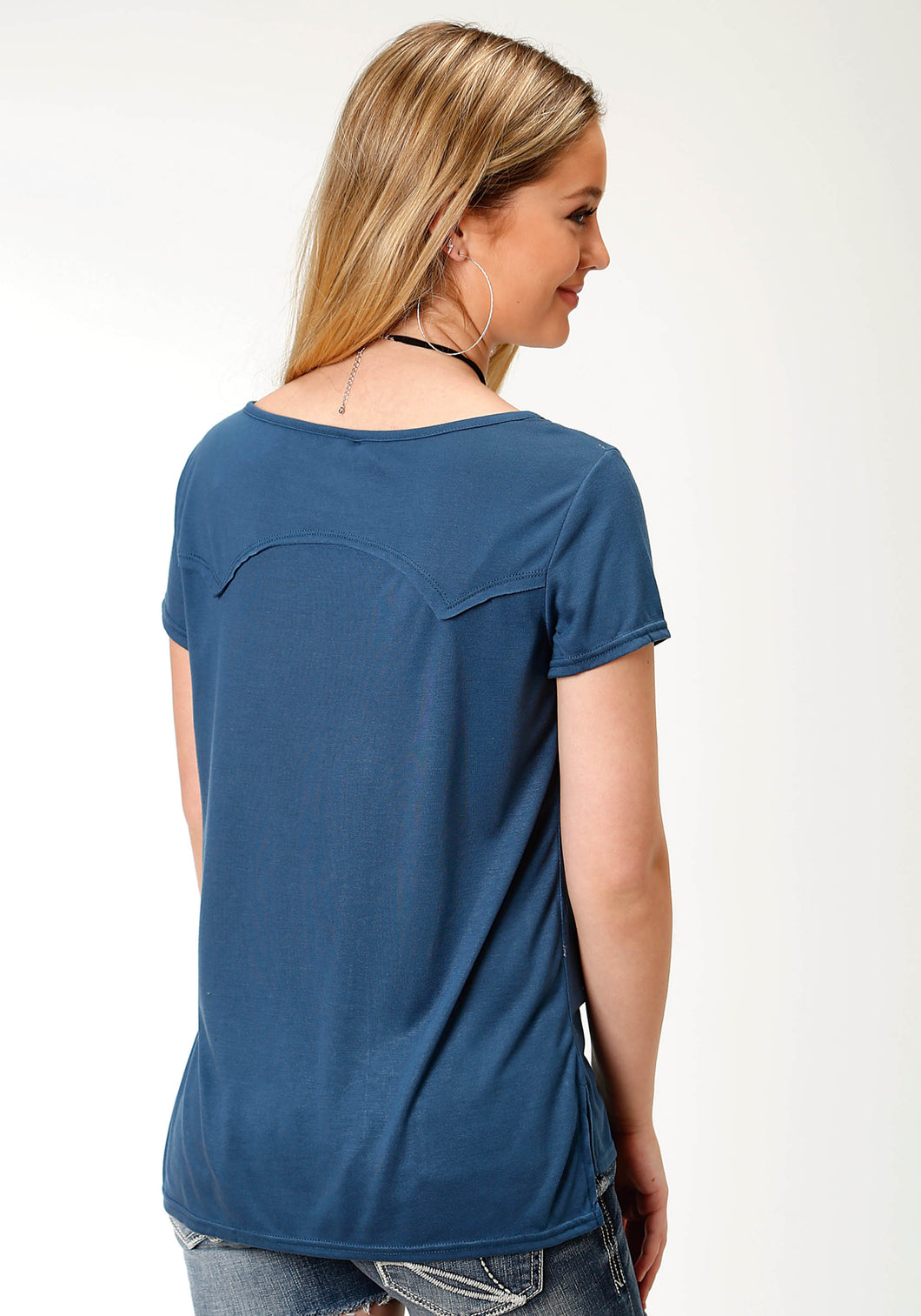 Five Star Collection- Spring Iii 5star Womens Short Sleeve 3126 Poly Rayon Jersey Scoop Neck Top