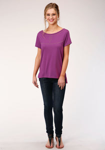 Five Star Collection- Spring Ii 5star Womens Short Sleeve 00134 Poly Rayon Jersey Tee