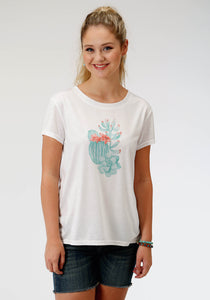 Five Star Collection- Summer Iii 5star Womens Short Sleeve 8173 Poly Rayon Ss Tee
