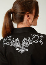 "Old West Collection Oldwest Womens Long Sleeve 1917 ""white Rose"" Embroidery"