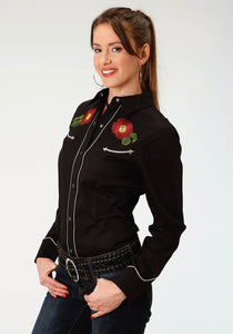 Old West Collection Oldwest Womens Long Sleeve 1893 Western Rose