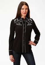Old West Collection Oldwest Womens Long Sleeve 1492 Poly Spandex Retro Shirt